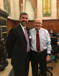 Ron Lemaire and House Finance Committee Chair Wayne Easter at the 2018 pre-Budget consultations
