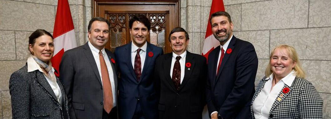 Canadian fresh produce industry leaders following a meeting with the Rt. Hon. Justin Trudeau.