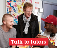 Talk to our tutors