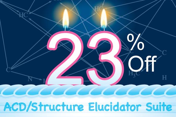 Structure Elucidator Suite 23% Anniversary Promotion
