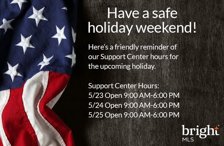 Memorial Day Support Center Hours